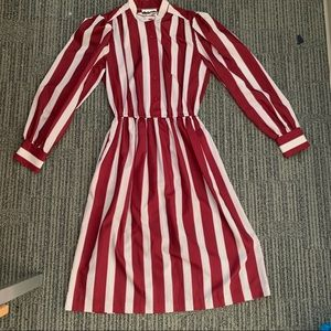 Size 14 Red Striped Dress